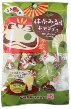 Green Tea Milk Candy $2.50 http://thingsfromjapan.net/green-tea-milk-candy/ #Japanese candy #green tea candy #Japanese snack