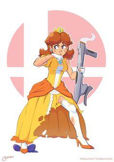 """""""Cuties can be toughies too Mario Princess Daisy, Nintendo Princess, Princess Peach, Luigi And Daisy, Mario And Luigi, Super Smash Bros, Super Mario Bros, Daisy Tumblr, Princesa Daisy"""
