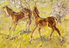 Franz Marc, Red Horses, 1909.jpg (1245×871)