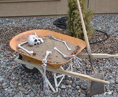 halloween decor with real bones | Photo - Pile of Bones - DIY: Simple yet creative outdoor Halloween ...