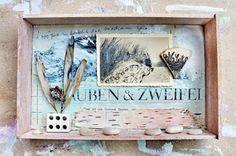 mano kellner, project 2016, kunstschachtel / art box nr 33/2016, glauben und zweifel (sold) Art Boxes, Box Art, 3d Collage, Shadow Box, Mixed Media Art, Scrapbook, Paintings, Artists, Sea