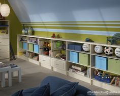 Playroom/guestroom- the stripes would incorporate the flow of color from the rest of the house.