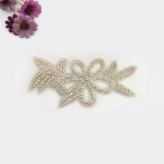 Quality Diamond Applique in Sigiving.com. Crystal Rhinestone and Bead Applique perfect for bridal embellishments size 8.8x19.0cm