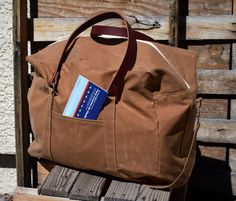 The Waxed Canvas and Leather Travel Bag by Zakken... Simple in design, practical, tough... The Voyager is a large travel bag with the busy traveler in