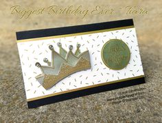 """Biggest Birthday Ever – Embossed Tiara 