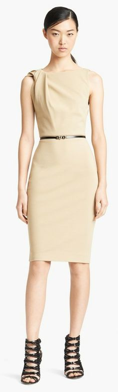 JASON WU Nude sheath dress found at Nudevotion.com