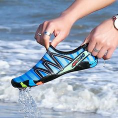 Water Shoes Mens Beach Swim Shoes Quick-Dry Aqua Socks Pool Shoes For Surf Yoga . Water Shoes For Kids, Water Sport Shoes, Mens Beach Shoes, Men Beach, Shoes Men, Nike Shoes, Women Slip On Sneakers, Non Slip Socks, Pool Shoes