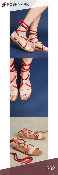 Anthropologie Seychelles Bianca Gladiator Sandal New in box. Seychelles Bianca Gladiator Sandals. Style No. 41836792 ; Color Code:  Geared toward trendsetters and fashion explorers in search of the unique, Seychelles combines cutting-edge silhouettes with timeless vintage details. The result is a romantic collection of flats, heels and booties with an old soul and a modern finish.  Fits true to size Leather upper, insole, sole Ankle tie Anthropologie Shoes