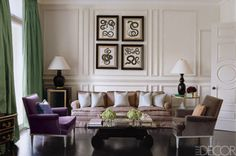 Hyde Park townhouse living area, with dark wood flooring, stately wood details, designer Paolo Moschino.