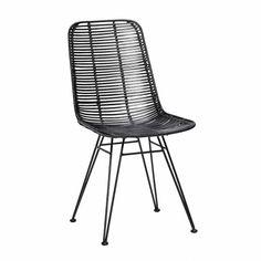 Black Rattan Chair Studio Hbsch