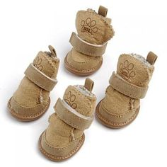 Warm Walking Cozy Pet Dog Shoes Boots Clothes Apparel 3# - Tan--Fit Paws (Approx.): 1 3/4'' x 1 1/2'' (L x W) by Unknown, http://www.amazon.co.uk/dp/B0089TIJZ2/ref=cm_sw_r_pi_dp_HKMUsb0KZ4X7K
