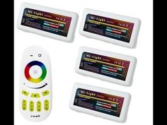 """Mi-Ligth Mando universal RGB """"2,4g""""  y 4 controladores RGB inalambricos ...   http://amiyoledshop.es"""