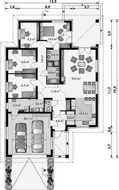 20x30 House Plans, Family House Plans, Dream House Plans, House Floor Plans, House Layout Plans, House Layouts, Minimalist House Design, Minimalist Interior, Minimalist Bedroom