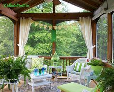 screened porch decorating ideas @ ACultivatedNest.Com