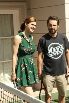 Still of Charlie Day and Alexandra Daddario in Its Always Sunny in Philadelphia