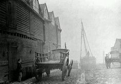 Cannon Wharf, Westminster, London, c. 1856 by C T Thompson Victorian Life, Victorian London, Vintage London, Old London, Victorian History, London History, British History, Uk History, Old Pictures