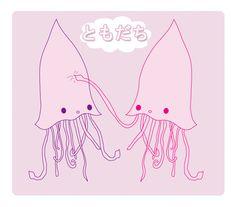 Squid Friend by pullmeoutalive.deviantart.com on @deviantART