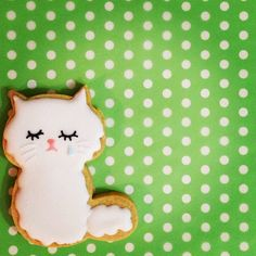 Royal icing cookie - Sugar cookie #cat