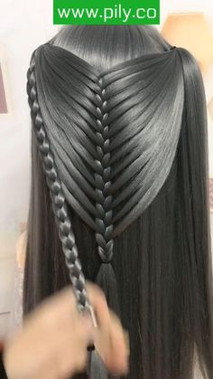 Easy Hairstyles For Long Hair, Girl Hairstyles, Braided Hairstyles, Hair Style Vedio, Girl Hair Dos, Vintage Hairstyles Tutorial, Long Hair Video, Hair Videos, Hair Highlights
