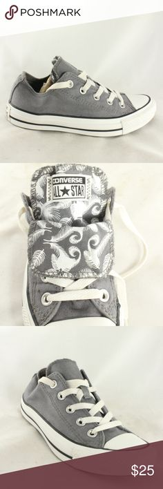CONVERSE All Star Double Tongue Feather Sneakers Canvas upper is excellent, insole is clean, cool double tongue with feather pattern. Great Chuck Taylors, always super versatile addition to your closet. Size 5 M (medium width) Converse Shoes Sneakers