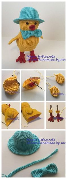 Step-by-step Amigurumi Chick Tutorial #amigurumi #crochettoys #howto #knitting #crochet #tutorial #handmade
