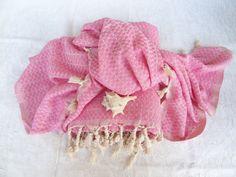 Pink  Bamboo Peshtemal Set Turkish PESHTEMAL by OttomanBazaars