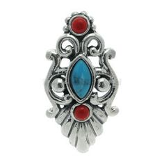 Buy now at www.bodyjewelleryshop.com -  Silver Reverse Belly Bar - Turquoise & Coral. We have the largest variety of bananabells you'll find! #bananabell #piercings #bodyjewellery @piercedfashion