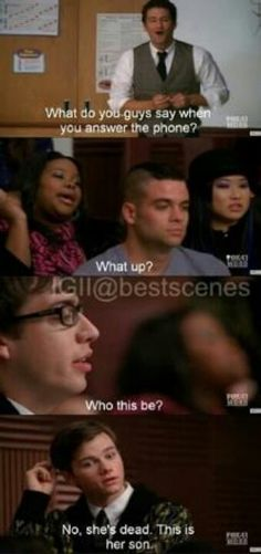 Sad but funny part from Glee!