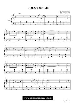 Özel Piyano Dersi: Count On Me Piyano Notaları Bruno Mars