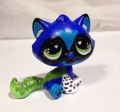 Littlest pet shop * Peacock Kitty * Custom Hand Painted LPS Cat OOAK #Hasbro