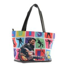 Elvis Presley Signature Product Women's Elvis 68 Travel Tote Black - US Women's One Size (US Women's One Size (Size None)) Oxford Booties, Women's Oxfords, Mochila Nike, Elvis Presley, Travel Tote, Handbags Online, Black Handbags, Kid Shoes, Diaper Bag