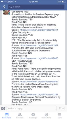 Clear and non partisan comparison of Rand Paul & Bernie Sanders.