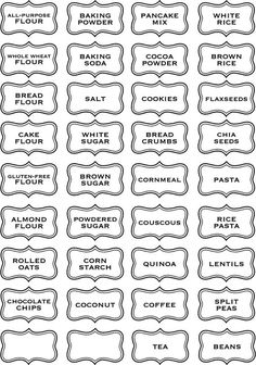 Kitchen Labels, Pantry Labels, Canning Labels, Canning Recipes, Kitchen Pantry, Vinyl Wall Art, Vinyl Decals, Printable Labels, Printables