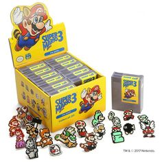 Super Mario Bros. 3 Pins Blind Box now available   This set of 20 pins recreates the frankly bewildering array of iconic characters that we all still recognize despite this game coming out almost 30 years ago. Each blind box contains 2 random pins from the collection and trading is highly encouraged.  PRODUCT DETAILS:  - Each box contains 2 pins. - Each case contains 24 pins with an extra special case pin.  Grab yours here  from GoNintendo Video Games