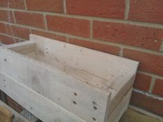 Wooden flower/ plant pot box made from reclaimed by GoodsForHome, £20.00