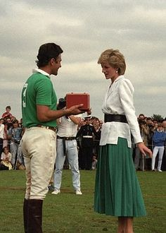 "Princess Diana and lover James Hewitt.    "":O)"