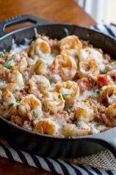 Cajun Shrimp and Quinoa Casserole | This Gal Cooks
