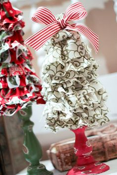 ruffled christmas trees by Jen from scissors & spatulas