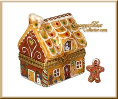 Gingerbread House Limoges Box by Beauchamp www.LimogesBoxCollector.com