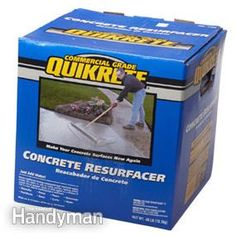 Restore a pitted concrete garage floor with an easy-to-apply resurfacing product. We show you how to resurface concrete. Concrete Garages, Concrete Driveways, Concrete Floors, Clean Concrete, Concrete Steps, Diy Concrete, Walkways, Garage Floor Resurfacing, Concrete Resurfacing