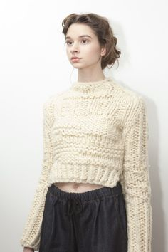 amanda henderson knits / chelsey sweater at the a/w 2013 presentation at Cliqk / photo by Justyna Fijalska