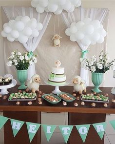 Super Ideas baby shower desserts table gender neutral – Baby Shower Ideas for Girls – Grandcrafter – DIY Christmas Ideas ♥ Homes Decoration Ideas Deco Baby Shower, Diy Shower, Shower Party, Baby Shower Parties, Baby Boy Shower, Cloud Baby Shower Theme, Shower Ideas, Lamb Baby Showers, Shower Games