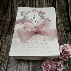 Floral Wreath Baptism Invitations by www.emmasmith.com.au