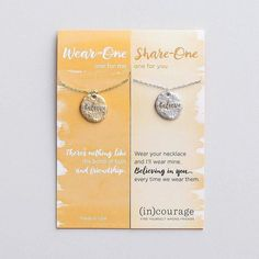 Who would you bless with one of these necklaces? {The wear-one share-one sets are from DaySpring.com and we love them. Clickable link in our profile!} : @dayspringcards