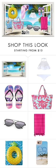 """Untitled #156"" by mercedes-may-mccoy ❤ liked on Polyvore featuring By Emily, Zimmermann, Aéropostale, Lilly Pulitzer, Linum Home Textiles and Casetify"