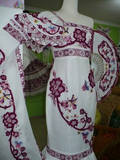 dresses inspire of the Panamanian pollera which guests wear for wedding or special occasions Traditional Mexican Dress, Traditional Dresses, Panama Canal, Panama City Panama, Mexican Dresses, Thinking Day, Culture, Victoria Dress, Embroidered Blouse
