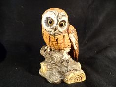 Owl Figurine-Ceramic Owl-UCTCI Japan Porcelain Owl figurine- by BCScollectibles on Etsy