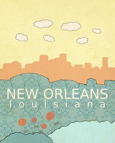 Nueva Orleans Louisiana / / moda infantil moderna por LisaBarbero
