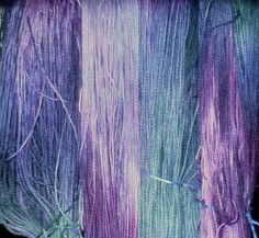 Newly dyed Gypsy Wools Kona Fingering drying on the deck rail.