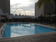 Swimming Pool at the Conrad Singapore Hotel Us Travel, Family Travel, Singapore With Kids, Conrad Hotel, Hotel Reviews, Adventure Travel, Swimming Pools, Around The Worlds, English